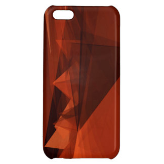 Orange Low Poly Background Design Artistic Pattern Cover For iPhone 5C