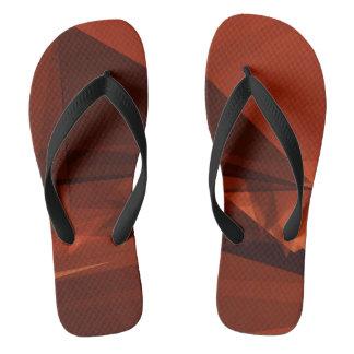 Orange Low Poly Background Design Artistic Pattern Flip Flops