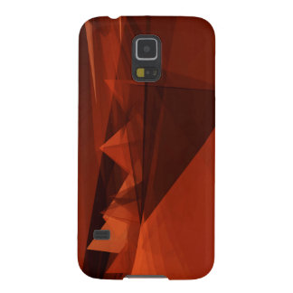 Orange Low Poly Background Design Artistic Pattern Galaxy S5 Cases
