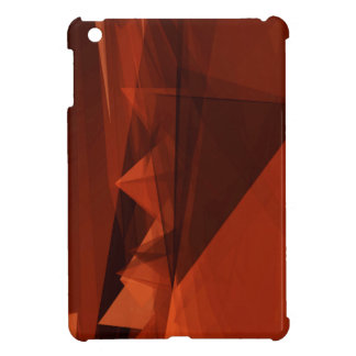 Orange Low Poly Background Design Artistic Pattern iPad Mini Cover