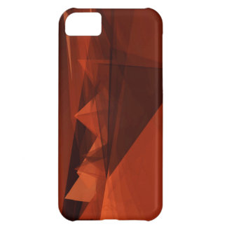 Orange Low Poly Background Design Artistic Pattern iPhone 5C Cover