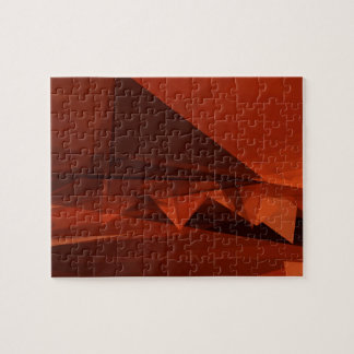 Orange Low Poly Background Design Artistic Pattern Jigsaw Puzzle