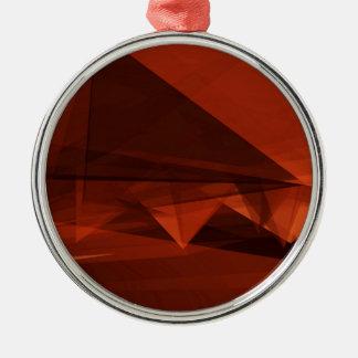 Orange Low Poly Background Design Artistic Pattern Metal Ornament