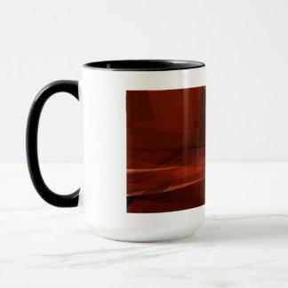 Orange Low Poly Background Design Artistic Pattern Mug