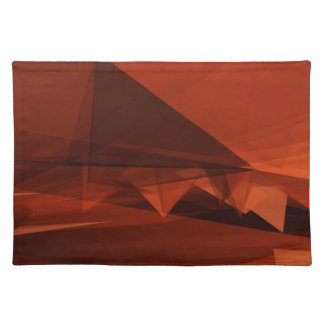 Orange Low Poly Background Design Artistic Pattern Placemat