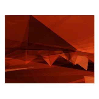 Orange Low Poly Background Design Artistic Pattern Postcard