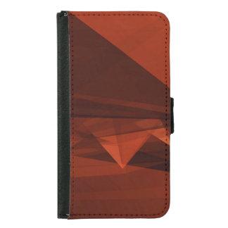 Orange Low Poly Background Design Artistic Pattern Samsung Galaxy S5 Wallet Case
