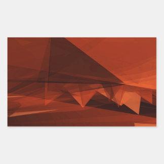 Orange Low Poly Background Design Artistic Pattern Sticker