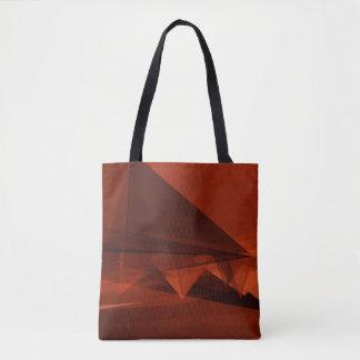 Orange Low Poly Background Design Artistic Pattern Tote Bag