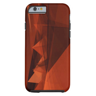 Orange Low Poly Background Design Artistic Pattern Tough iPhone 6 Case