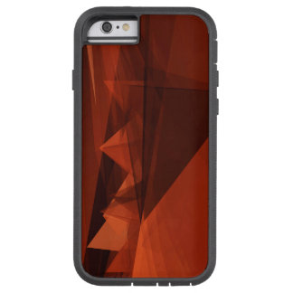 Orange Low Poly Background Design Artistic Pattern Tough Xtreme iPhone 6 Case