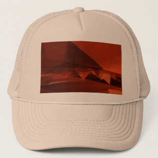 Orange Low Poly Background Design Artistic Pattern Trucker Hat