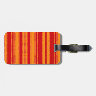 orange luggage tag