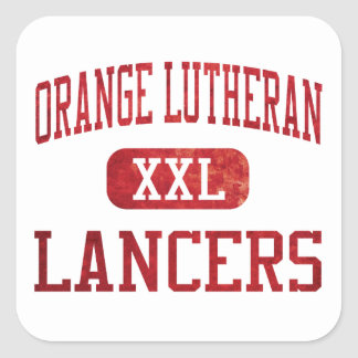Orange Lutheran Lancers Athletics Square Sticker