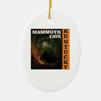 Orange mammoth cave art ceramic ornament