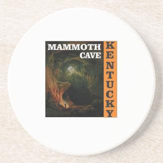 Orange mammoth cave art coaster
