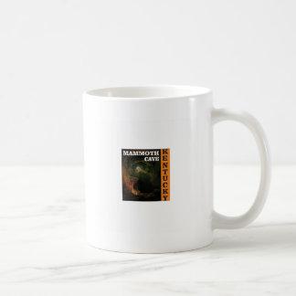 Orange mammoth cave art coffee mug