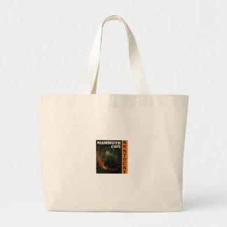 Orange mammoth cave art large tote bag