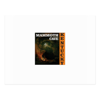 Orange mammoth cave art postcard
