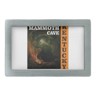 Orange mammoth cave art rectangular belt buckle