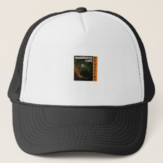 Orange mammoth cave art trucker hat