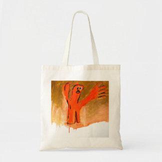Orange Man on Gold by Johnny Tote Bag