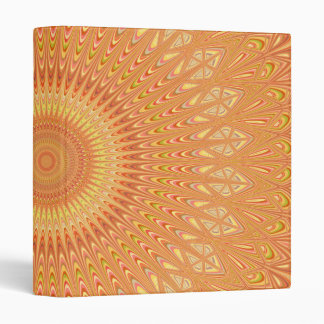 Orange mandala 3 ring binder