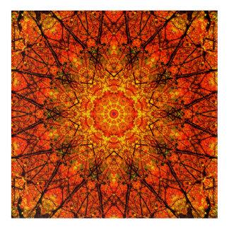 Orange Mandala Art