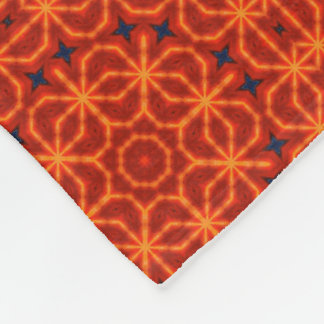 Orange Mandala Pattern Fleece Blanket