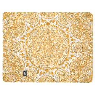 Orange mandala pattern journal