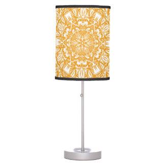 Orange mandala pattern table lamp