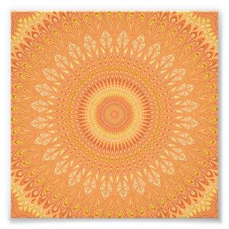 Orange mandala photo print