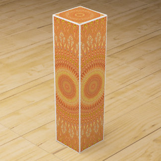 Orange mandala wine gift box