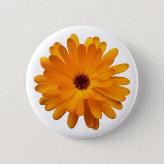 Orange Marigold 2 Inch Round Button