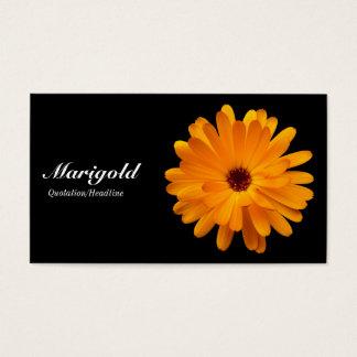Orange Marigold- Black Business Card