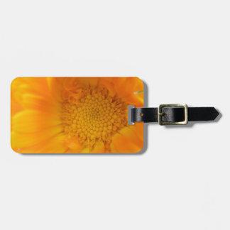 Orange Marigold Macro Custom Luggage Tag