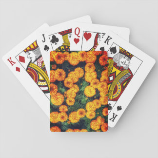 Orange Marigold Playing Cards
