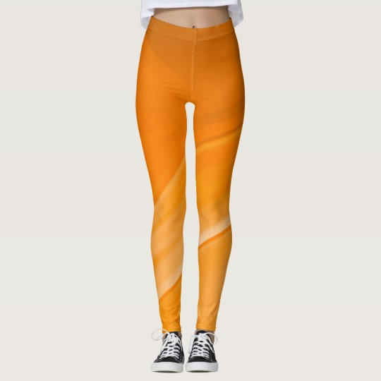 Orange Marmalade Abstract Custom Yoga Leggings