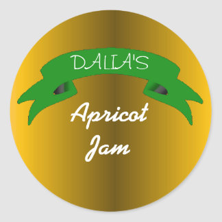 Orange marmalade apricot jam label