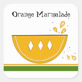 Orange Marmalade Jam Stickers