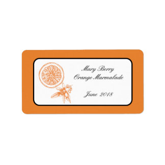 Orange Marmalde Jar label personalised