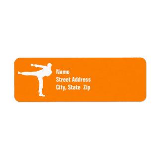 Orange Martial Arts Labels