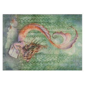 Orange Mermaid Cutting Board