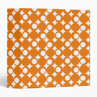 Orange Mod Ball Design @ Emporio Moffa Vinyl Binder