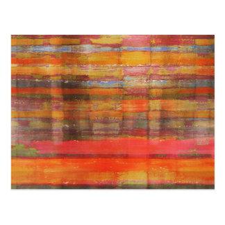 Orange Modern Abstract Art Postcard