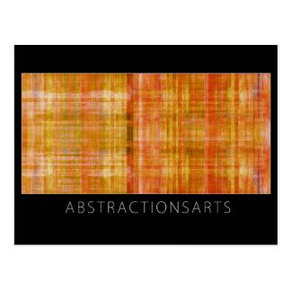 Orange Modern Art Postcard