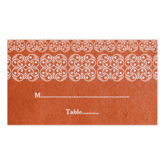 Orange Modern Bohemian Place Card Business Card