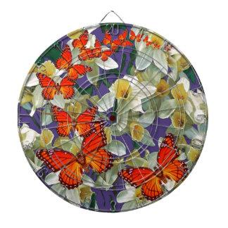 Orange Monarch Butterflies Narcissus Art Dartboard