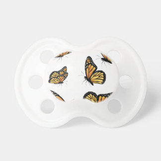 Orange Monarch Butterfly 2 Baby Pacifiers
