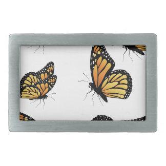 Orange Monarch Butterfly 2 Belt Buckle
